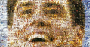 A photomosaic made of images from The Truman Show
